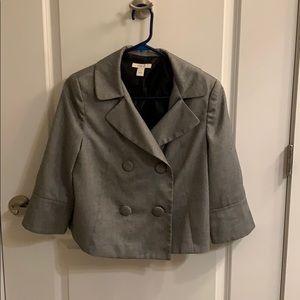 Metallic grey dress blazer